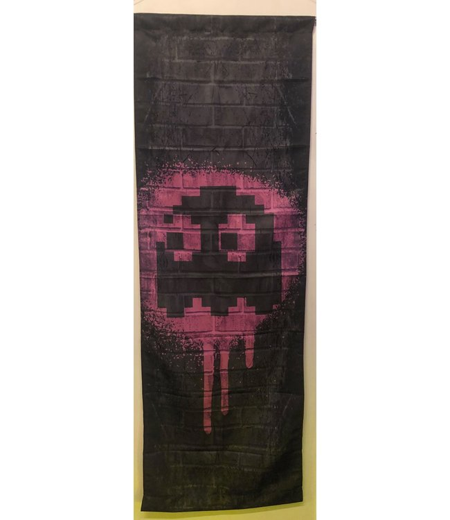 NAMCO PINK GHOST - PINKY PAC-MAN TAPESTRY 2FT X 6FT