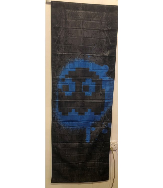 NAMCO BLUE GHOST - INKY PAC-MAN TAPESTRY 2FT X 6FT