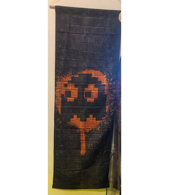 NAMCO ORANGE GHOST - CLYDE PAC-MAN TAPESTRY 2FT X 6FT