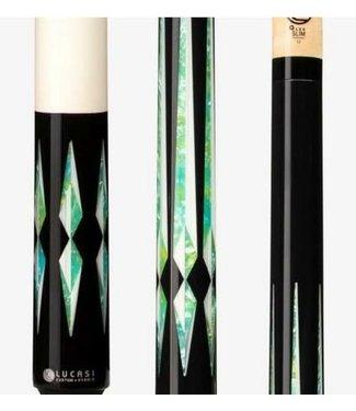 Lucasi LZC48 Black/ Bone & Blue/Green  Lucasi Cue Stick