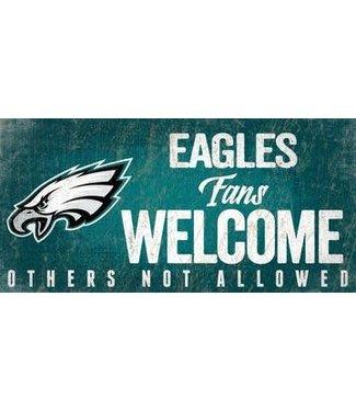 "Philadelphia Eagles Fans Welcome Sign 6""x12"""