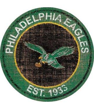"PHILADELPHIA  EAGLES HERITAGE LOGO 24"" ROUND"