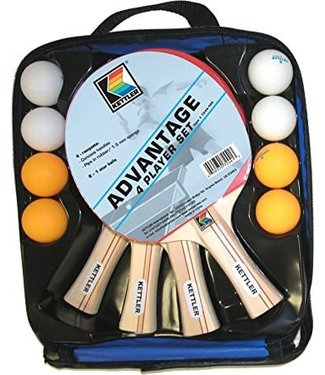 Kettler 4 Player Ping Pong Paddle Ball Set