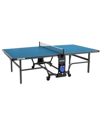 Kettler Berlin Pro Outdoor Ping Pong Table with Cover, 4 Paddles and Balls