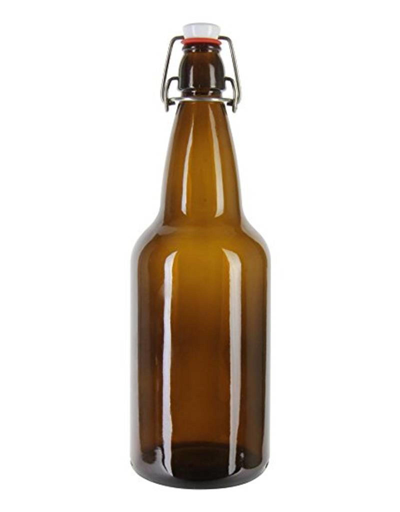 500ml Amber Flip Top Bottles - Case (12)