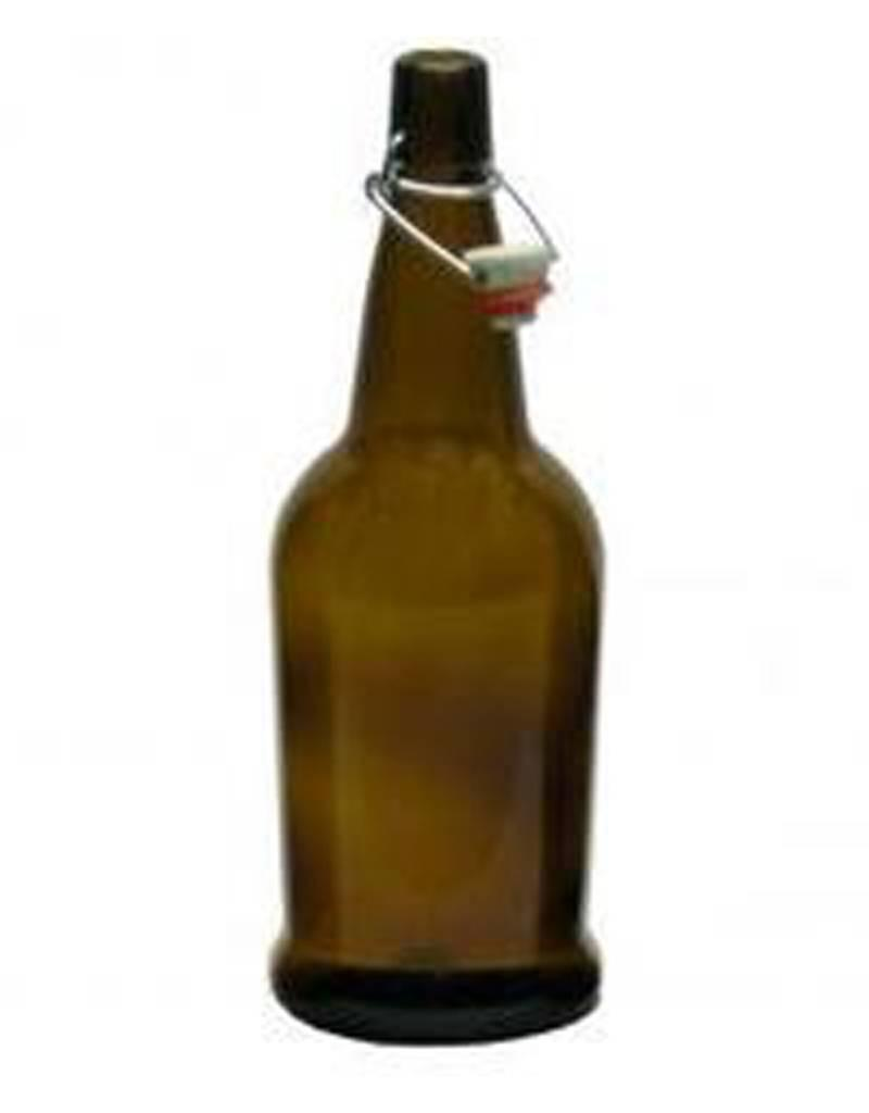 EZ Cap 1 Liter Amber Bottle Case (12)