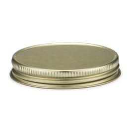 Threaded Metal Spirit Caps Gold 10ct.
