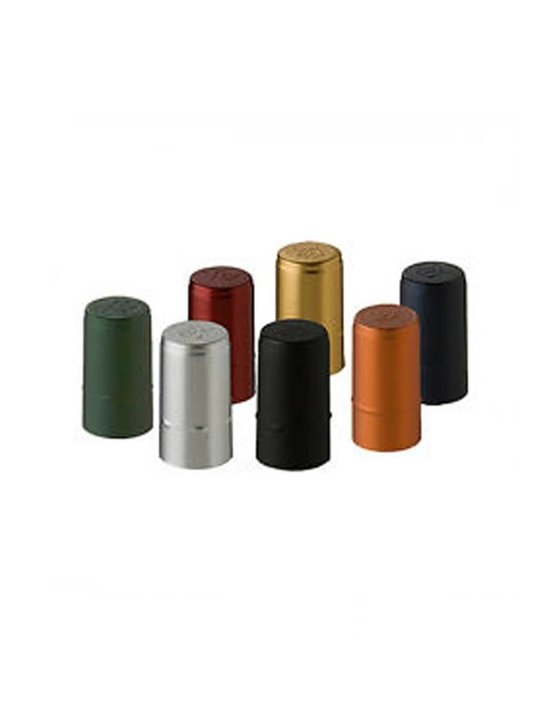 Heat Shrink Hoods Green with Gold 30pk