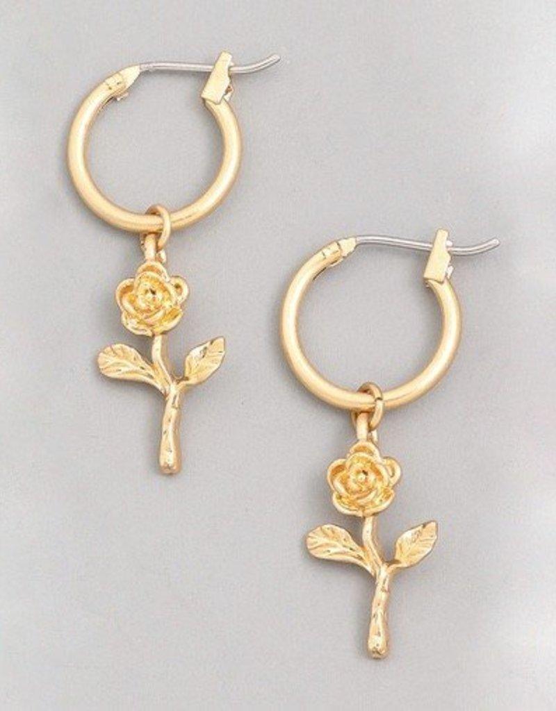 Mini Rose Earring