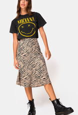 Motel Rocks Tauri Midi Skirt 90's Zebra