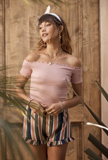 Sage the Label Rebel With a Cause Top Light Pink