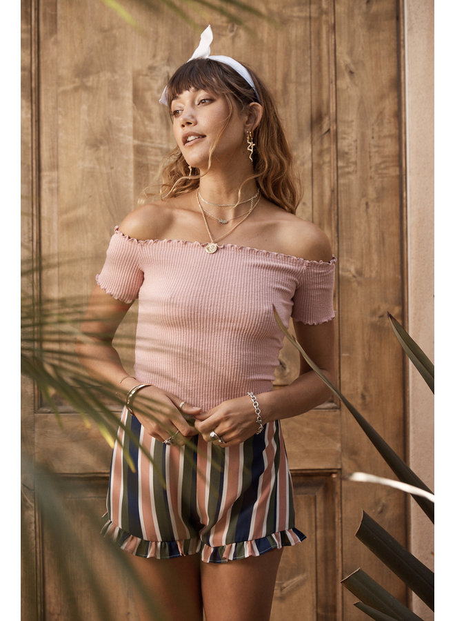 Rebel With a Cause Top Light Pink