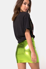 Motel Rocks Kimmy Skirt Metallic Green