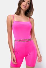 Motel Rocks Lita Unitard Nylon Pink