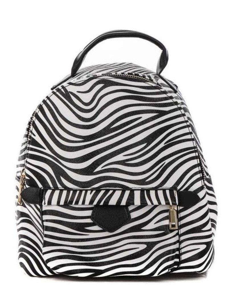 Bella Mar Wild Side Backpack Zebra