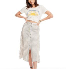 Chaser Linen Button Down Midi Skirt