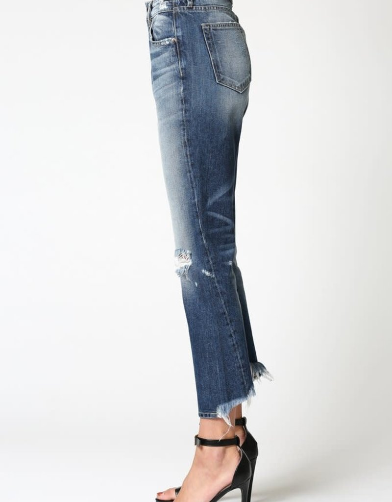 Hidden Jeans Tracey Dark Wash High Rise Straight Crop