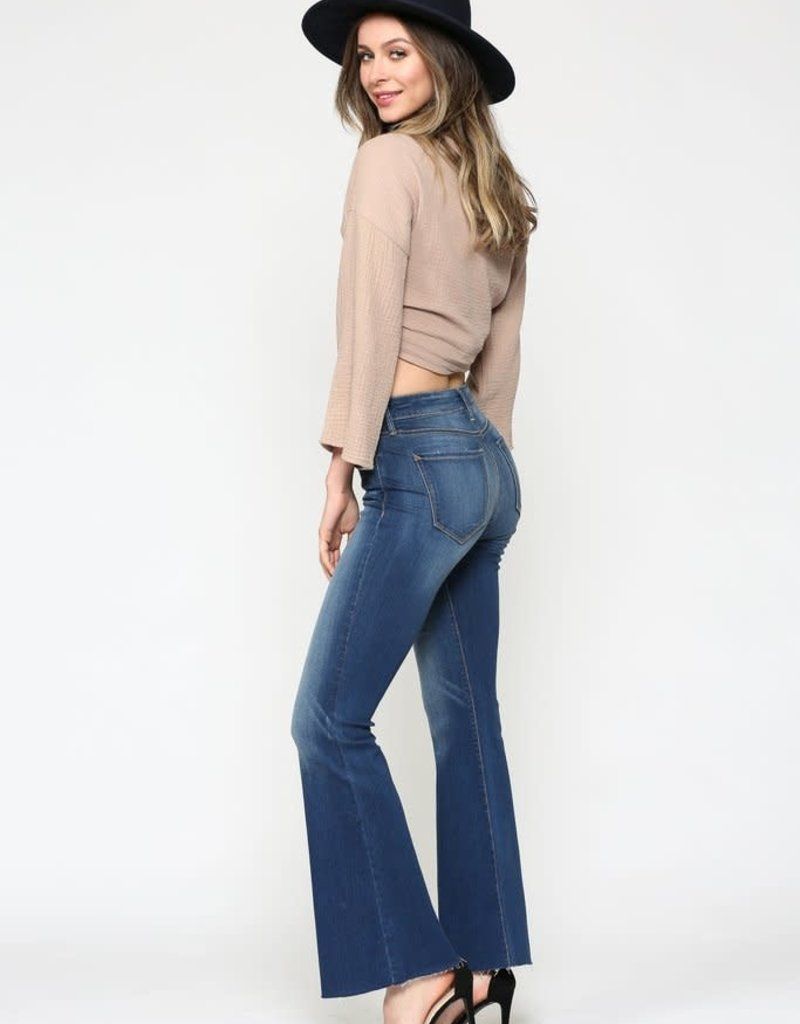Hidden Jeans Ryan Dark Wash Clean Stretch Flare