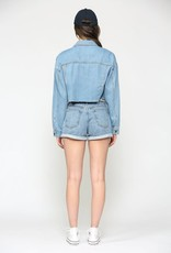 Hidden Jeans Rebel Light Wash Cropped Jacket