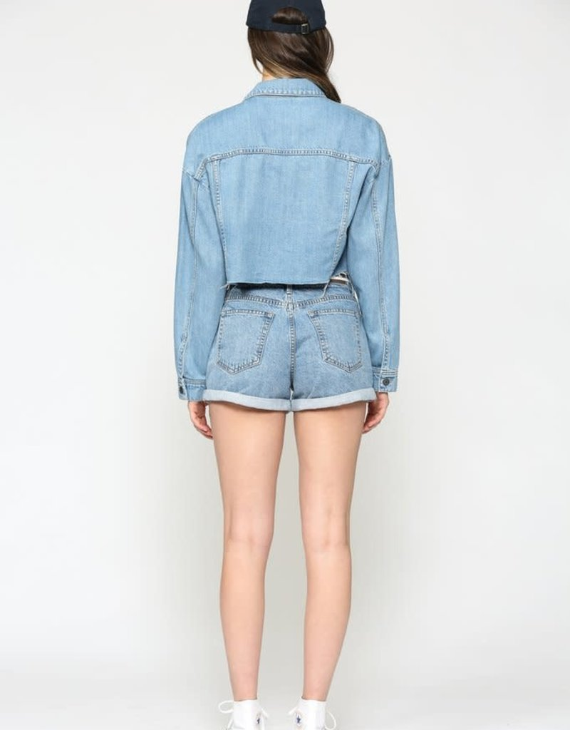 Hidden Jeans Rebel Light Wash Cropped Jacket
