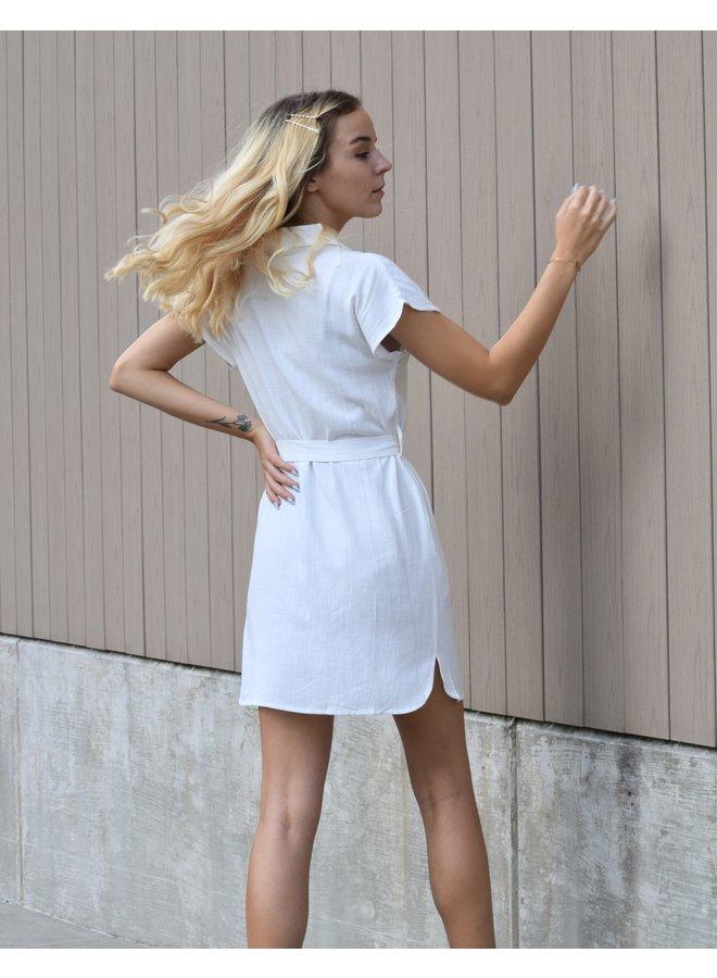 Gia Button Down Mini Dress