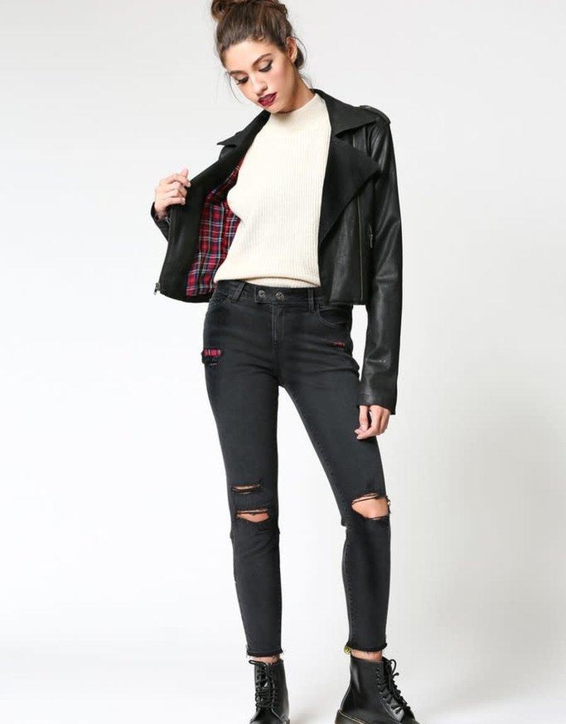 Hidden Jeans Rebel Black Coated Jacket
