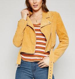 Bella Mar Live a Little Cord Moto Jacket