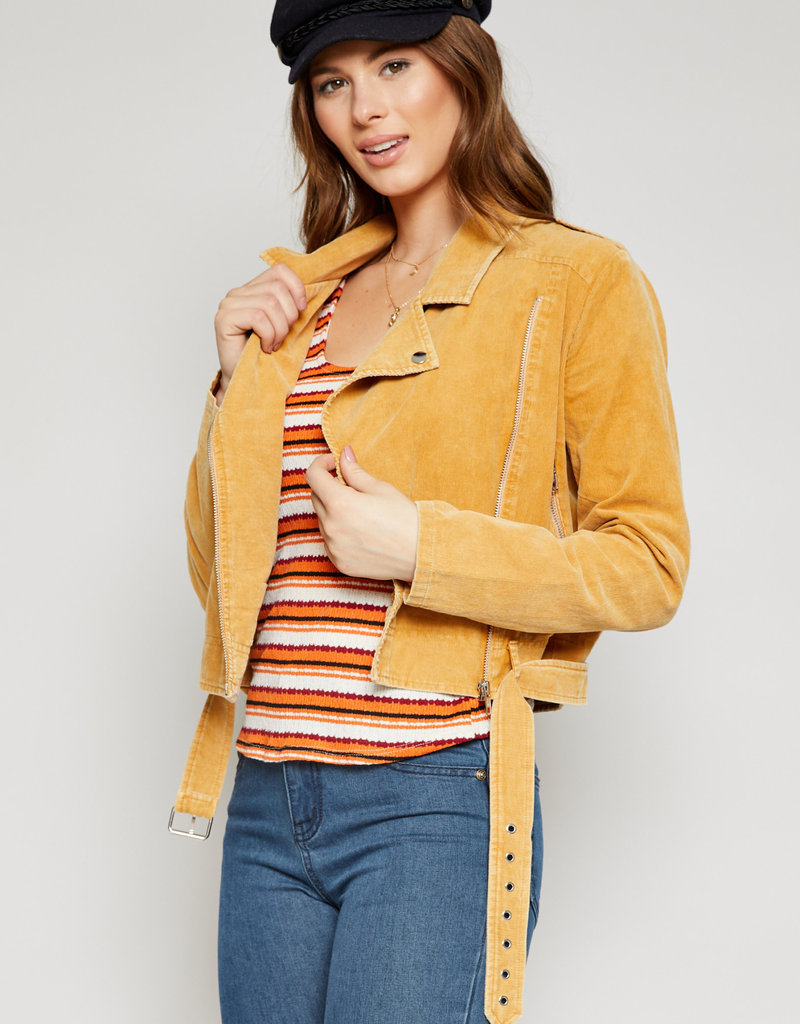 Bella Mar Live a Little Cord Moto Jacket