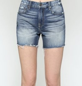 Hidden Jeans Sofie Uneven Waistband High Waisted Shorts
