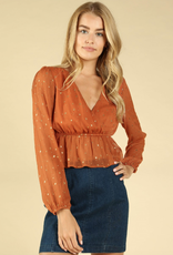 Honey Punch Space Bound Baby Doll Top