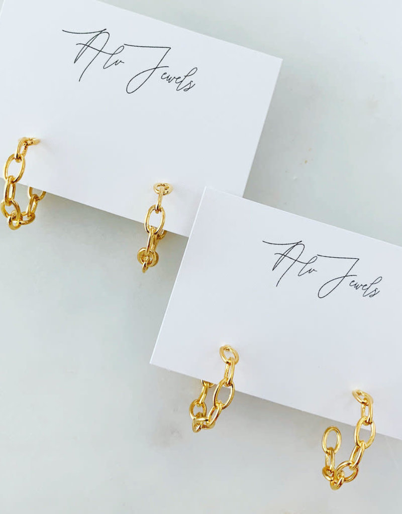 ALV Jewels Chain Hoops