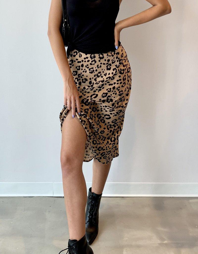 Lucca Frost Midi Skirt Tan Jaguar