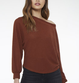 Project Social T One Way Cozy Off Shoulder