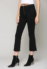 Hidden Jeans Happi Black Flare With Front Zipper