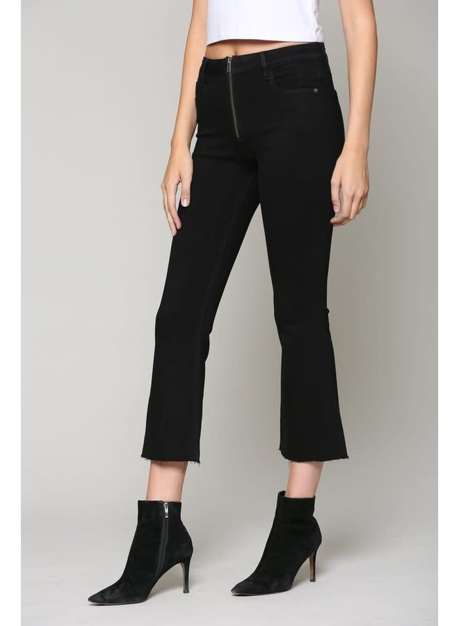 Happi Black Flare With Front Zipper