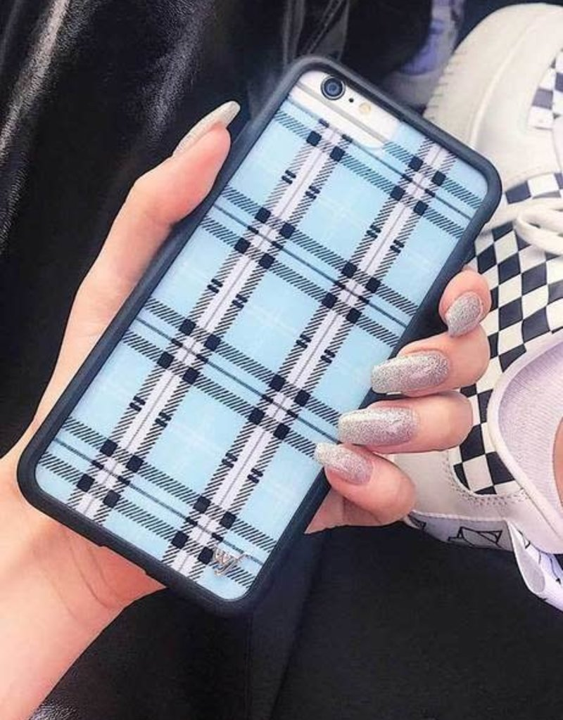 Wildflower Blue Plaid iPhone Xr Case