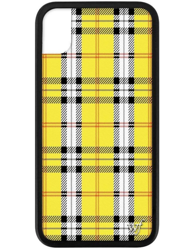 Wildflower Yellow Plaid iPhone Xr Case