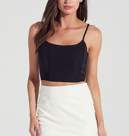 Bella Mar Chart Topper Crop Black