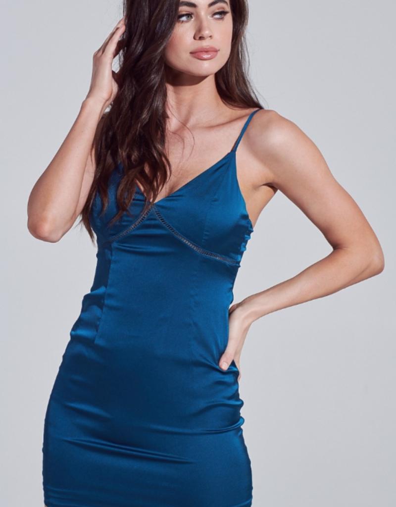 Bella Mar Truth Hurts Mini Dress Teal