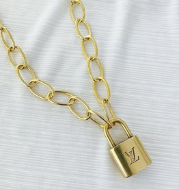 Bella Mar Vintage LV Lock Necklace