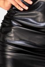 Motel Rocks Lugano Skirt in PU Black by Motel