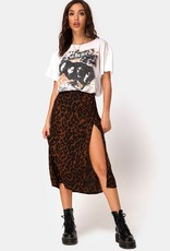Motel Rocks Saika Skirt in Oversize Jaguar Brown by Motel