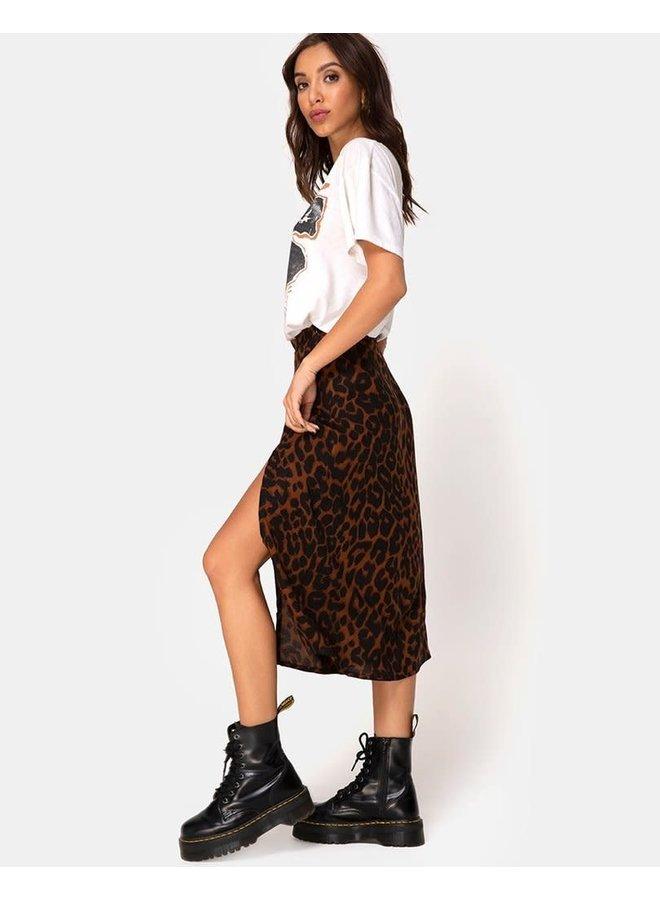 Saika Skirt in Oversize Jaguar Brown by Motel