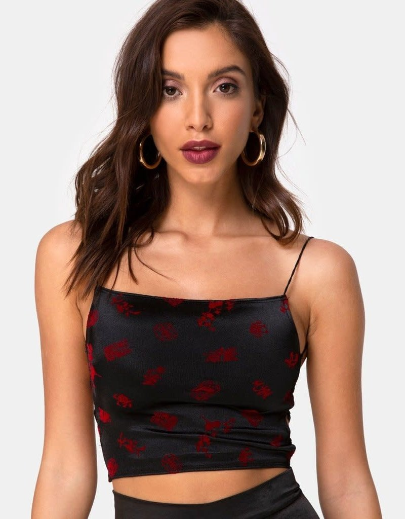 Motel Rocks Ozka Top in Japanese Blossom by Motel