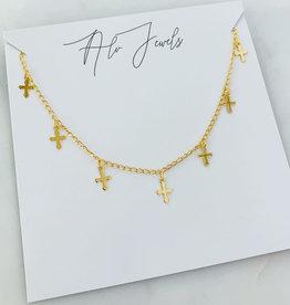 ALV Jewels Cross Dangle Choker