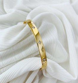 ALV Jewels Pave Oval Link Bracelet
