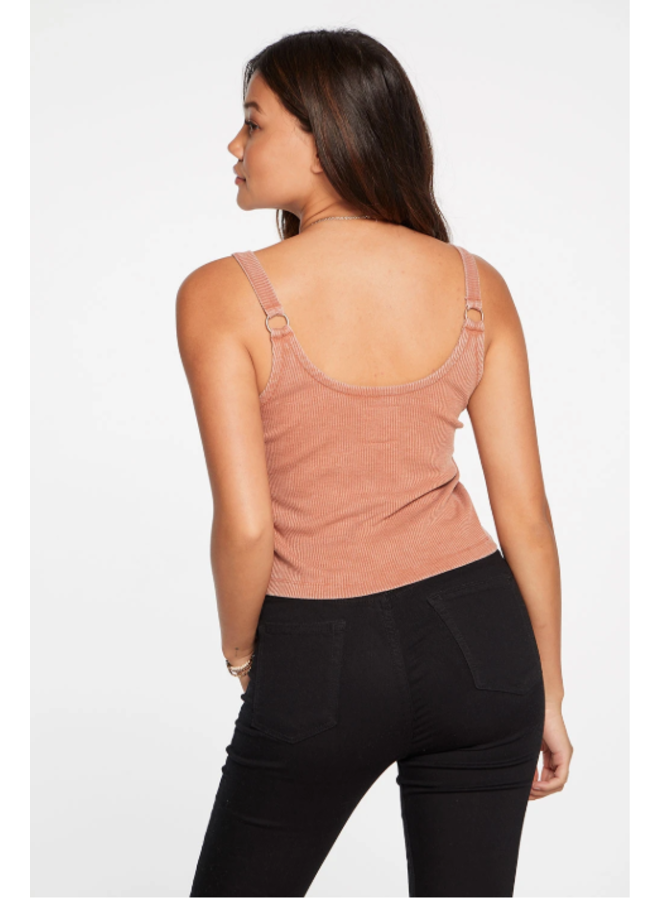 Cozy Rib Cropped Double Scoop Ring Cami