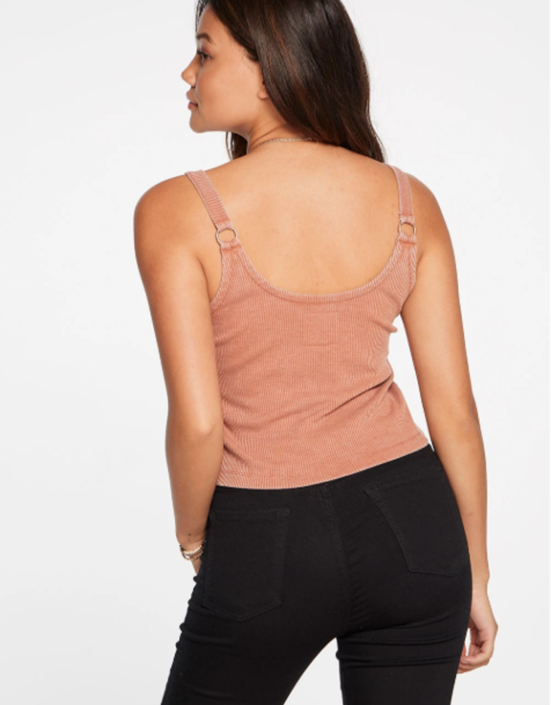 Chaser Cozy Rib Cropped Double Scoop Ring Cami