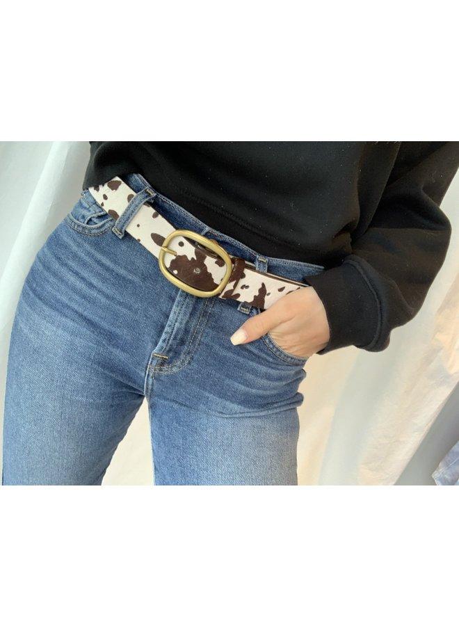 Cow Print Belt