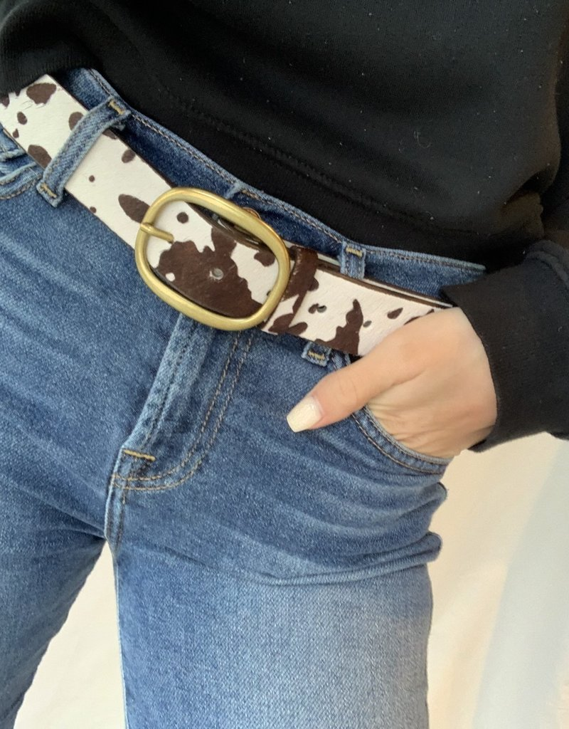 Bella Mar Cow Print Belt